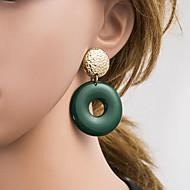 Χαμηλού Κόστους -Γυναικεία Πολύχρωμο Γεωμετρική Κρεμαστά Σκουλαρίκια Σκουλαρίκια Ευρωπαϊκό Κοσμήματα Κόκκινο / Πράσινο / Σκούρο Μπλε Μαρέν Για Καθημερινά 1 Pair