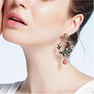 Χαμηλού Κόστους -Γυναικεία Πολύχρωμο Cubic Zirconia Κρεμαστά Σκουλαρίκια Μαργαριτάρι Ρητίνη S925 Sterling Silver Σκουλαρίκια Πουλί Ευρωπαϊκό Κοσμήματα Ασημί Για Καθημερινά 1 Pair
