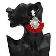 お買い得  -女性用 ドロップイヤリング 人造真珠 イヤリング ジュエリー レッド / グリーン / ブルー 用途 祭り 1ペア