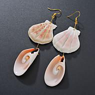 저렴한 -여성용 드랍 귀걸이 쉘 귀걸이 자연적 열대의 보석류 골드 제품 결혼식 파티 일상 거리 작동 1 쌍