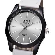 رخيصةأون -ASJ نسائي ساعة فستان كوارتز مطاط أسود / الأبيض / أحمر لا كوول مماثل موضة - أبيض أسود أحمر