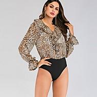 billige -Dame - Leopard Gade Bodysuit Brun M