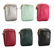 billige -Etui Til Blackberry / Apple / Samsung Galaxy Universell Kortholder Lomme Ensfarget Myk PU Leather til Universell