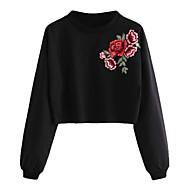 billige -Dame Afslappet / Basale Sweatshirt - Blomstret