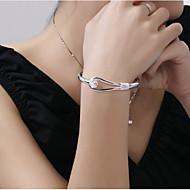 billige -Dame Mansjettarmbånd Sølvplett Blomst Dyrebar Stilfull Grunnleggende Armbånd Smykker Sølv Til Daglig Arbeid