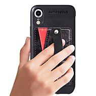 Χαμηλού Κόστους -tok Για Apple iPhone XR Πορτοφόλι / Θήκη καρτών / Ανθεκτική σε πτώσεις Πλήρης Θήκη Μονόχρωμο Σκληρή PU δέρμα για iPhone XR