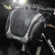 billige -3 L Vesker til sykkelstyre Skulderveske Vanntett Bærbar Anvendelig Sykkelveske Lerret Nylon Sykkelveske Sykkelveske Sykling Utendørs Trening Sykkel