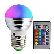 billige -1pc 3 W LED-globepærer 110-210 lm E26 / E27 1 LED Perler Farvegradient Multi-farver 85-265 V