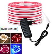 billige -kwb3m fleksible led lysstrimler 2400 leds smd3528 rød / blå / gul søt / neon elektroluminescerende ledning / kuttbar 12 V med strømforsyning 12v 3a