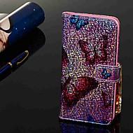 זול -מגן עבור Samsung Galaxy Galaxy M20(2019) / Galaxy M30(2019) ארנק / מחזיק כרטיסים / עם מעמד כיסוי מלא פרפר קשיח עור PU ל Galaxy M10 (2019) / Galaxy M20(2019) / Galaxy M30(2019)