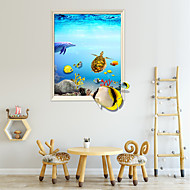 cheap -Undersea World Cute Animals Wall Stickers - Words &ampamp Quotes Wall Stickers Characters Study Room / Office / Dining Room / Kitchen