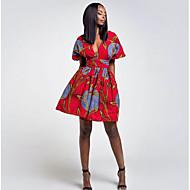 abordables -Mujer Línea A Vestido Geométrico Sobre la rodilla