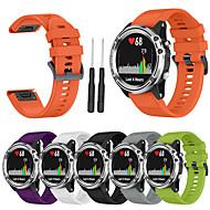 tanie -Sportowy pasek na nadgarstek do zegarka z opaską silikonową do inteligentnego zegarka garmin fenix 5s z narzędziem