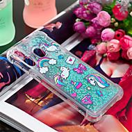 voordelige -hoesje Voor Samsung Galaxy Galaxy A30(2019) / Galaxy A50(2019) Schokbestendig / Stromende vloeistof / Patroon Achterkant dier / Glitterglans Zacht TPU voor A6 (2018) / A6+ (2018) / Galaxy A7(2018)