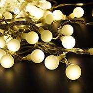 billige -loende 3xaa batteri led globe string light 5m 50leds led utendørs fest dekorasjon christmas gardenholiday belysning