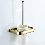cheap -Toilet Brush Holder New Design Contemporary / Modern Brass / Ceramic 1pc - Bathroom / Hotel bath Wall Mounted