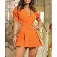 hesapli -Kadın's Temel Kılıf Elbise - Solid Diz üstü