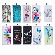 povoljno -Θήκη Za Samsung Galaxy Note 9 / Note 8 / Galaxy Note 10 Novčanik / Utor za kartice / Otporno na trešnju Korice Rukav leptir / Životinja / Cvijet PU koža