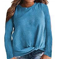 billige -T-skjorte Dame - Ensfarget Gul US14 / UK18 / EU46