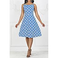 baratos -Mulheres Vintage Anos 50 Evasê Vestido - Estampado, Poá Altura dos Joelhos
