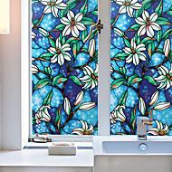 halpa -väri orkidea ikkuna elokuva& tarroja koristelu eläin / kuvioitu loma / merkki / geometrinen pvc (polyvinyylikloridi) -ikkuna