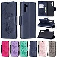 povoljno -Θήκη Za Samsung Galaxy Galaxy Note 10 / Galaxy Note 10 Plus Novčanik / Utor za kartice / Otporno na trešnju Korice Jednobojni / Rukav leptir PU koža