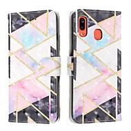 cheap -Case For Samsung Galaxy A6 (2018) / A6 Plus / A7(2018) Wallet / Card Holder / Flip Full Body Cases Geometric Pattern PU Leather For Samsung Galaxy A10/A20/A20E/A30/A40/A50/A60/A70/A80/A90/A2 Core