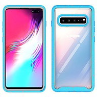 cheap -Case For Samsung Galaxy S9 / S9 Plus / Galaxy S10 Shockproof / Dustproof Back Cover Transparent TPU / PC Case For Samsung Galaxy S10 E / Samsung Galaxy S10 Plus/ Samsung Galaxy S10 5G