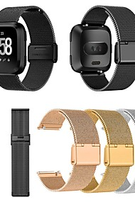 tanie -Watch Band na Fitbit Versa / Fitbit Versa Lite Fitbit Metalowa bransoletka Metal / Stal nierdzewna Opaska na nadgarstek