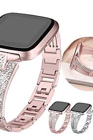 tanie -Watch Band na Fitbit Versa / Fitbit Versa Lite Fitbit Pasek sportowy / Klasyczna klamra / Design biżuterii Stal nierdzewna Opaska na nadgarstek