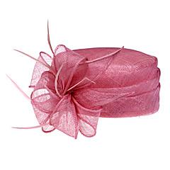 olcso Hajékszerek-gyönyörű len tollal esküvői / bulizás / Nászutas kalap (1192-005)