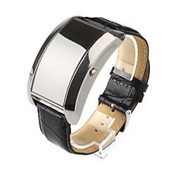 preiswerte Digitaluhren-Sport LED-Armbanduhr mit Blauer LED Anzeige und  PU-Leder-Band