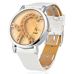 お買い得  レディース腕時計-女性用 リストウォッチ 日本産 クォーツ 模造ダイヤモンド シリコーン バンド ハンズ 光沢タイプ Heart Shape ファッション 白 - ホワイト / ステンレス