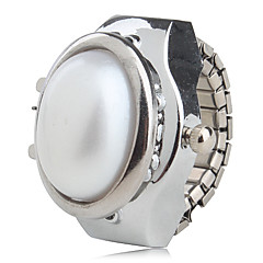 preiswerte Damenuhren-Damen Ringuhr Japanisch Quartz Armbanduhren für den Alltag Legierung Band Analog Perlen Modisch Silber - Weiß Purpur Blau Ein Jahr Batterielebensdauer / SSUO SR626SW