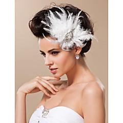 voordelige Haarsieraden-Tule fascinators Hoofddeksels with Bloemen 1pc Bruiloft Speciale gelegenheden Helm