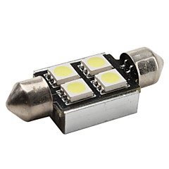 cheap LED Car Bulbs-High-performance 36mm 4*5050 SMD White LED Car Signal Light CANBUS