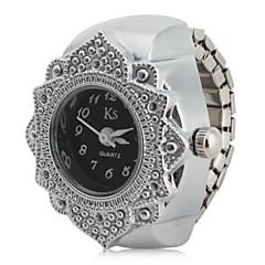 preiswerte Damenuhren-Damen Ringuhr Japanisch Quartz Silber Armbanduhren für den Alltag Analog damas Blume Modisch - Schwarz Rot Rosa Ein Jahr Batterielebensdauer / SSUO SR626SW