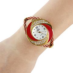 お買い得  レディース腕時計-女性用 ファッションウォッチ ブレスレットウォッチ クォーツ 合金 バンド ハンズ 光沢タイプ バングル ブラック / 白 / ブルー - レッド ブルー ピンク 1年間 電池寿命 / SSUO 377