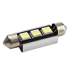 High-performance 41mm 3*5050 SMD White LED Car Signal Light CANBUS