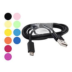 abordables Oferta del día-Cable para el Samsung Galaxy S3 i9300 y S2 i9100 de Macho USB a Macho Micro USB - Colores Surtidos