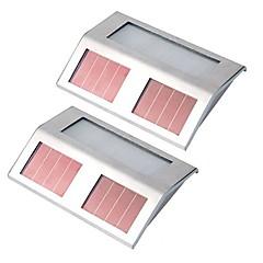olcso Kültéri lámpa és gyertyatartók-2db napelemes tápfeszültségű 4led világítótest kültéri lépcsőfokos kerti udvarra