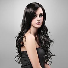 お買い得  人工毛ウィッグ-ウィッグ ウェーブ カーニバルウィッグ ハロウィンウィッグ ブラックウィッグ ブラック 日常