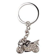 porte-clés en métal argenté moto fraîche