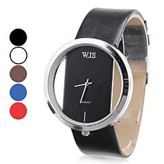Mujer Reloj de Vestir Reloj de Moda Reloj de Pulsera Japonés Cuarzo Piel Banda Negro Blanco Negro Marrón Rojo Azul