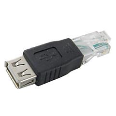 abordables Cables Ethernet-adaptador hembra usb a rj45 para red / computadora de alta calidad, durable