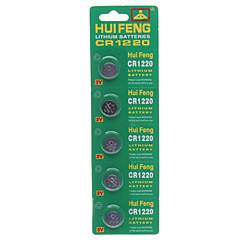 preiswerte Herrenuhren-HUIFENG 3V CR1220 Li-Ion Knopf Batterie 5 pcs