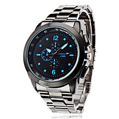 Men's Business Style Silver Alloy Quartz Wrist Watch (Assorted Colors) Cool Watch Unique Watch Fashion Watch