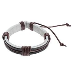 preiswerte Armbänder-Herrn Bettelarmbänder Lederarmbänder - Leder Einzigartiges Design, Modisch Armbänder Grau / Braun Für Weihnachts Geschenke Sport