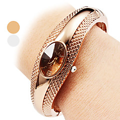 cheap Women's Watches-Women's Quartz Bracelet Watch Casual Watch Alloy Band Casual Elegant Fashion Bangle Silver Bronze