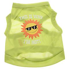 abordables Accesorios Mascota-Perro Camiseta Ropa para Perro Letra y Número Verde Terileno Disfraz Para mascotas